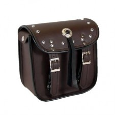 Brown Studs Mini Sissy-Bar Bag