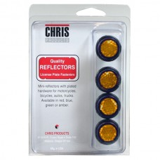 Amber Reflective License Plate Bolts