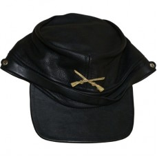 Leather Civil War Cap