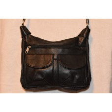 Leather Handbag with 8 Compartments & Shoulder Strap