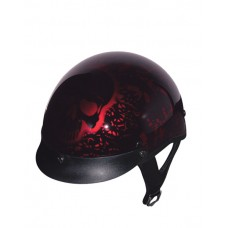 Boneyard Gloss Red DOT Half Helmet