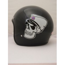 Dixie Skulls DOT Open-Face Helmet