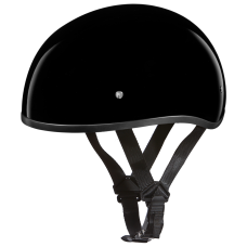 Gloss Black DOT Skull Cap