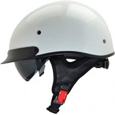 Vega Pearl DOT Half Helmet with Flip-Down Visor