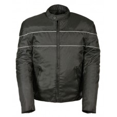 Textile Scooter Jacket with Reflective Piping