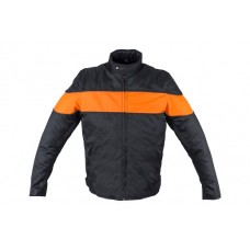 Textile Jacket with Orange Stipe