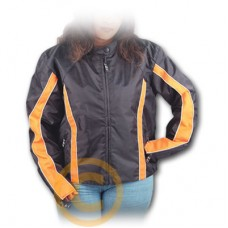 Black & Orange Textile Jacket