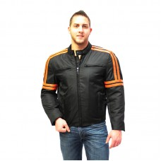 Textile Jacket with Orange Pinstripes