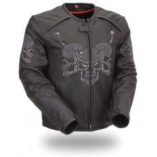 Skulls Leather Jacket