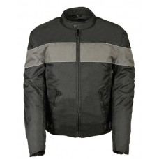 Textile Scooter Jacket with Gray Stripe
