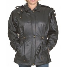 Hooded Lambskin Jacket