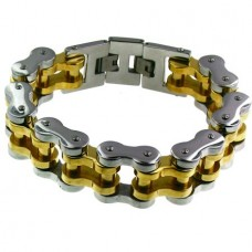 Steel/Gold Chain Bracelet