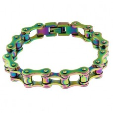 Colorful Bike Chain Bracelet