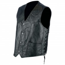Hog Leather Vest with Side Lace