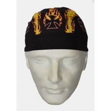 Flaming Cross Do Rag